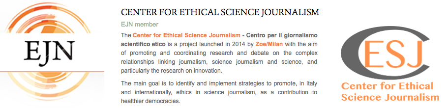 Center for Ethical Science Journalism member of Ethical Science Journalism